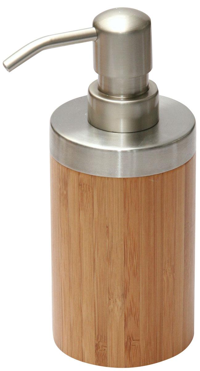 Дозатор для жидкого мыла Axentia Bonja282333Дозатор для жидкого мыла Axentia Bonja изготовлен из натурального экологически чистого бамбука, устойчивого к повышенной влажности, с элементами нержавеющей стали. Изделие превосходно дополнит интерьер вашей ванной комнаты или кухни, отлично сочетается с другими аксессуарами из коллекции Bonja. Высота дозатора: 16,5 см.
