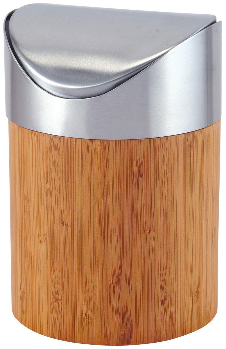 Ведро для мусора Axentia Bonja, с крышкой, 2 л116809Ведро для мусора Axentia Bonja изготовлено из натурального экологически чистого бамбука, устойчивого к повышенной влажности, и элементов из высококачественной нержавеющей стали. Ведро для мусора Axentia Bonja дополнит ваш интерьер и украсит кухню или ванную комнату, а качественные материалы позволят наслаждаться покупкой долгие годы. Размер ведра: 12,5 х 12,5 х 17 см. Объем ведра: 2 л.