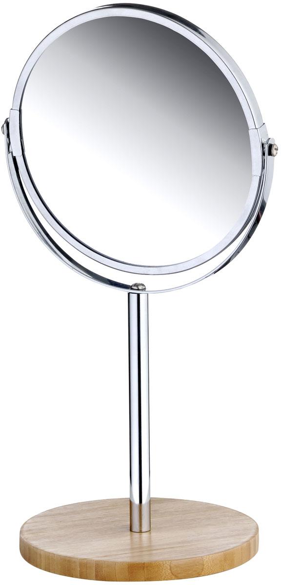 Зеркало настольное Axentia Bonja, на ножке, с увеличением282806Настольное косметическое зеркало Axentia Bonja идеально подходит для нанесения макияжа и совершения различных косметических процедур. Изделие изготовлено из натурального экологически чистого бамбука, устойчивого к повышенной влажности с элементами нержавеющей стали. Зеркало с увеличением поможет разглядеть даже малейшие нюансы и устранить все недостатки кожи. Яркий и стильный дизайн зеркала на ножке делает его отличным подарком родным и близким, оно будет прекрасно смотреться в любом интерьере.