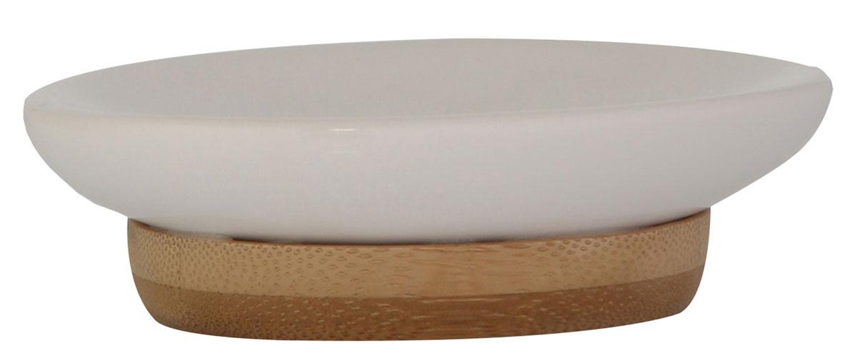 Мыльница Axentia Bonja Premium, 14,5 х 9,7 х 2,3 см122332Мыльница Axentia Bonja Premium - это сочетание экологически чистого бамбука, устойчивого к высокой влажности, и натуральной белой керамики. Отлично сочетается с другими аксессуарами из коллекции Bonja Premium. Размер мыльницы: 14,5 х 9,7 х 2,3 см.
