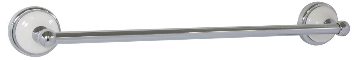 Полотенцедержатель Axentia Lyon Premium, настенный122445Навесной настенный полотенцедержатель Axentia Lyon Premium выполнен из нержавеющей стали, покрытой цинком с колпачком из белой керамики. Крепится к стене с помощью шурупов (входят в комплект).
