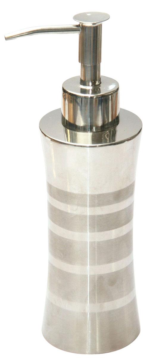 Дозатор для жидкого мыла Axentia Santo282369Дозатор для жидкого мыла Axentia Santo изготовлен из высококачественной нержавеющей стали. Обработан двумя типами полировки: глянцевая и матовая. Изделие прекрасно дополнит интерьер вашей ванной комнаты или кухни, отлично сочетается с другими аксессуарами из коллекции Santo. Высота дозатора: 18,5 см.