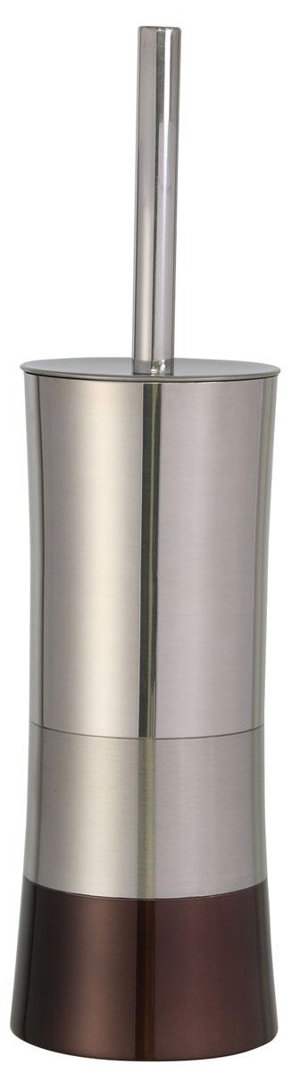 Ершик для унитаза Axentia Lucca, с подставкой, высота 37,5 см122366Ершик для унитаза Axentia Lucca имеет ручку из высококачественной нержавеющей стали и белую щетку, с жестким густым ворсом. Подставка изготовлена из высококачественной нержавеющей стали, такой материал не боится влажности и механического воздействия. Обработан тремя способами: глянцевая и матовая полировка и бронзовое покрытие. Высококачественные материалы позволят наслаждаться покупкой долгие годы. Изделие приятно дополнит интерьер вашей туалетной комнаты.