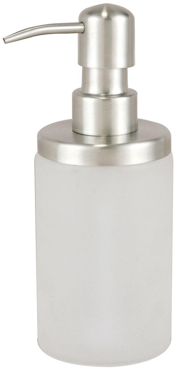 Дозатор для жидкого мыла Axentia Neapel, цвет: белый, серебристый116944Изготовлен из матового стекла в сочетании с нержавеющей сталью. Упакована в индивидуальную коробку. Отлично сочетается с другими аксессуарами из коллекции Neapel.