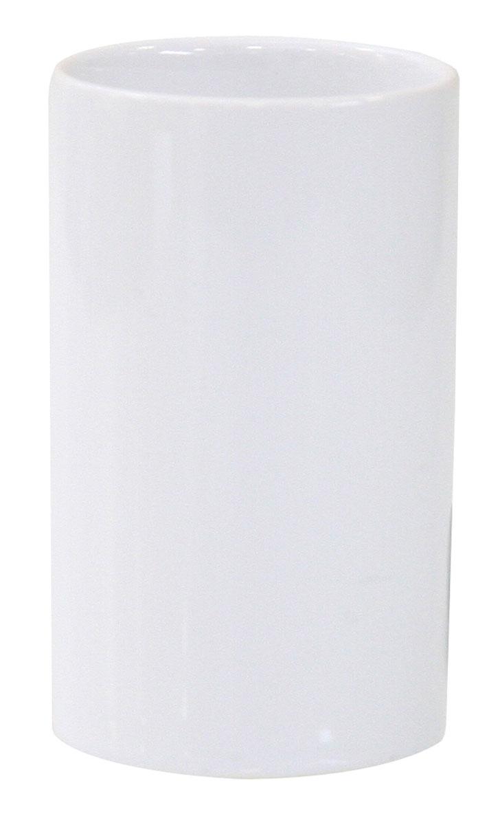 Стакан для зубных щеток Axentia Bianco, высота 11 см282455Стакан для зубных щеток Axentia Bianco изготовлен из натуральной и элегантной керамики белого цвета. Изделие превосходно дополнит интерьер ванной комнаты, отлично сочетается с другими аксессуарами из коллекции Bianco. Высота стакана: 11 см. Диаметр стакана (по верхнему краю): 6,5 см.