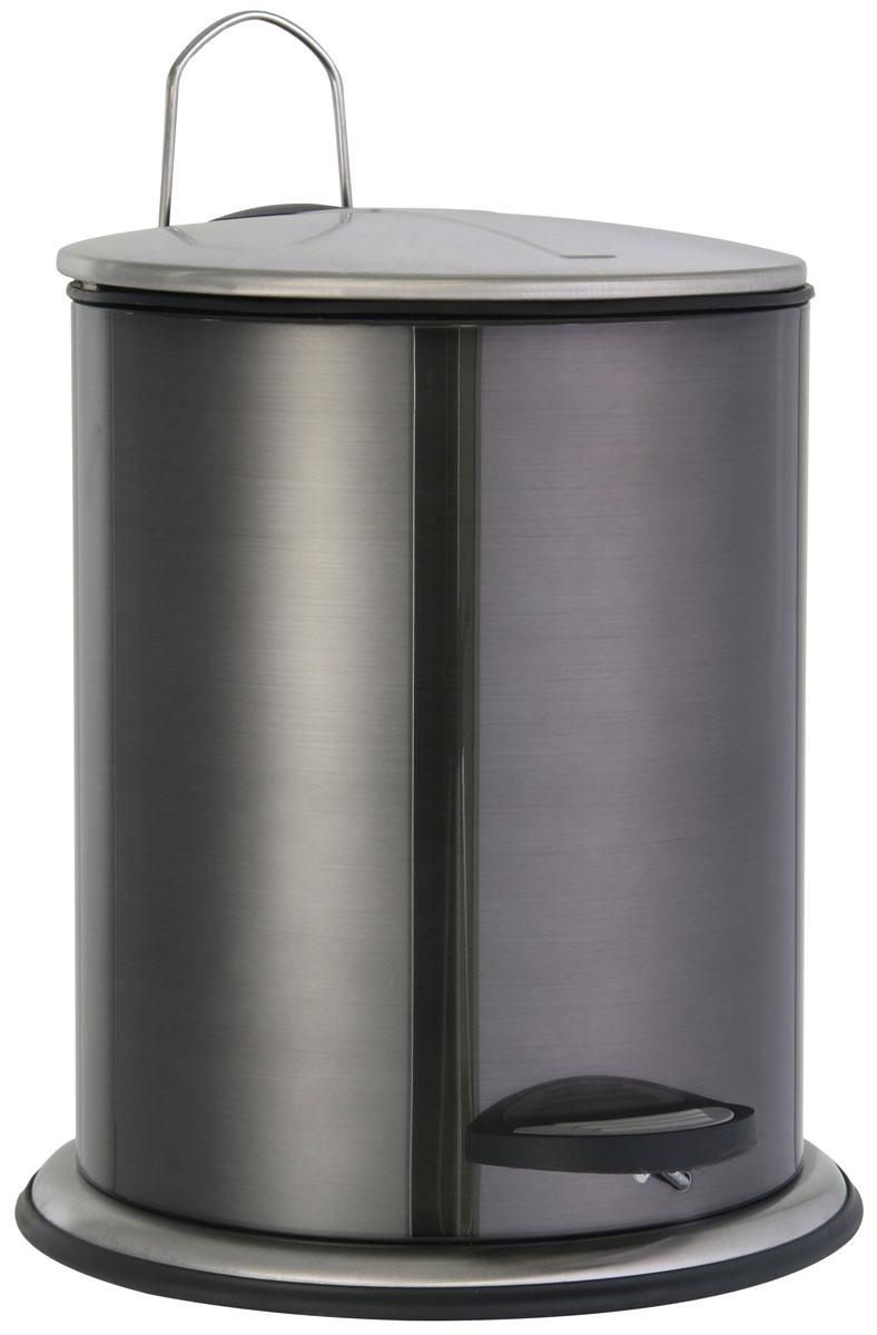 Ведро для мусора Axentia Bologna, с педалью, 5 л122389Мусорное ведро Axentia Bologna изготовлено из сатинированной нержавеющей стали снаружи и полипропилена внутри. Изделие оснащено крышкой, ручкой для переноски и педалью для более удобного использования. Такое ведро пригодится для мелкого мусора, а также прекрасно впишется в интерьер ванной комнаты.