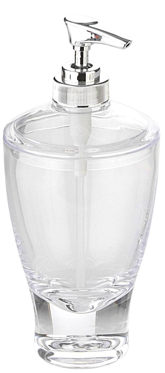 Дозатор для жидкого мыла Axentia Felina, цвет: прозрачный282317Изготовлен из прозрачного акрила. Универсальный дизайн подходит под любой интерьер ванной комнаты. Отлично сочетается с другими аксессуарами из коллекции Felina.