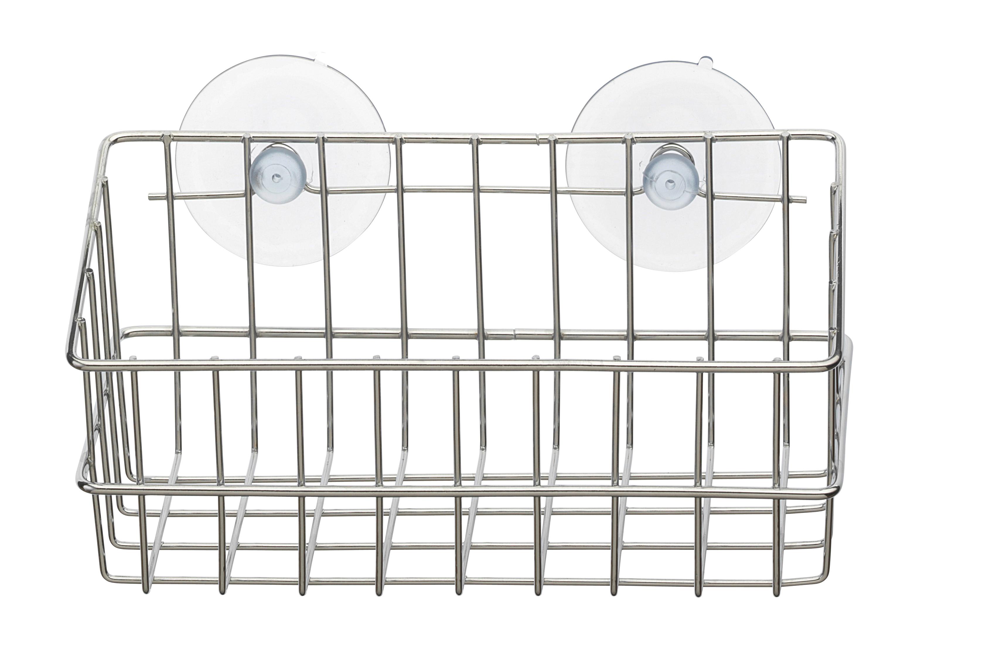 Корзинка для ванной Top Star, прямоугольная, на присосках, цвет: хром, 19,5 х 9 х 9 см702264Корзинка для ванной комнаты настенная прямоугольная, глубокая, с двумя присосками в комплекте. Прекрасно подходит для хранения тюбиков гелей для душа, шампуней, мочалок и др. Изготовлена из высококачественной хромированной стали, устойчивой к высокой влажности.