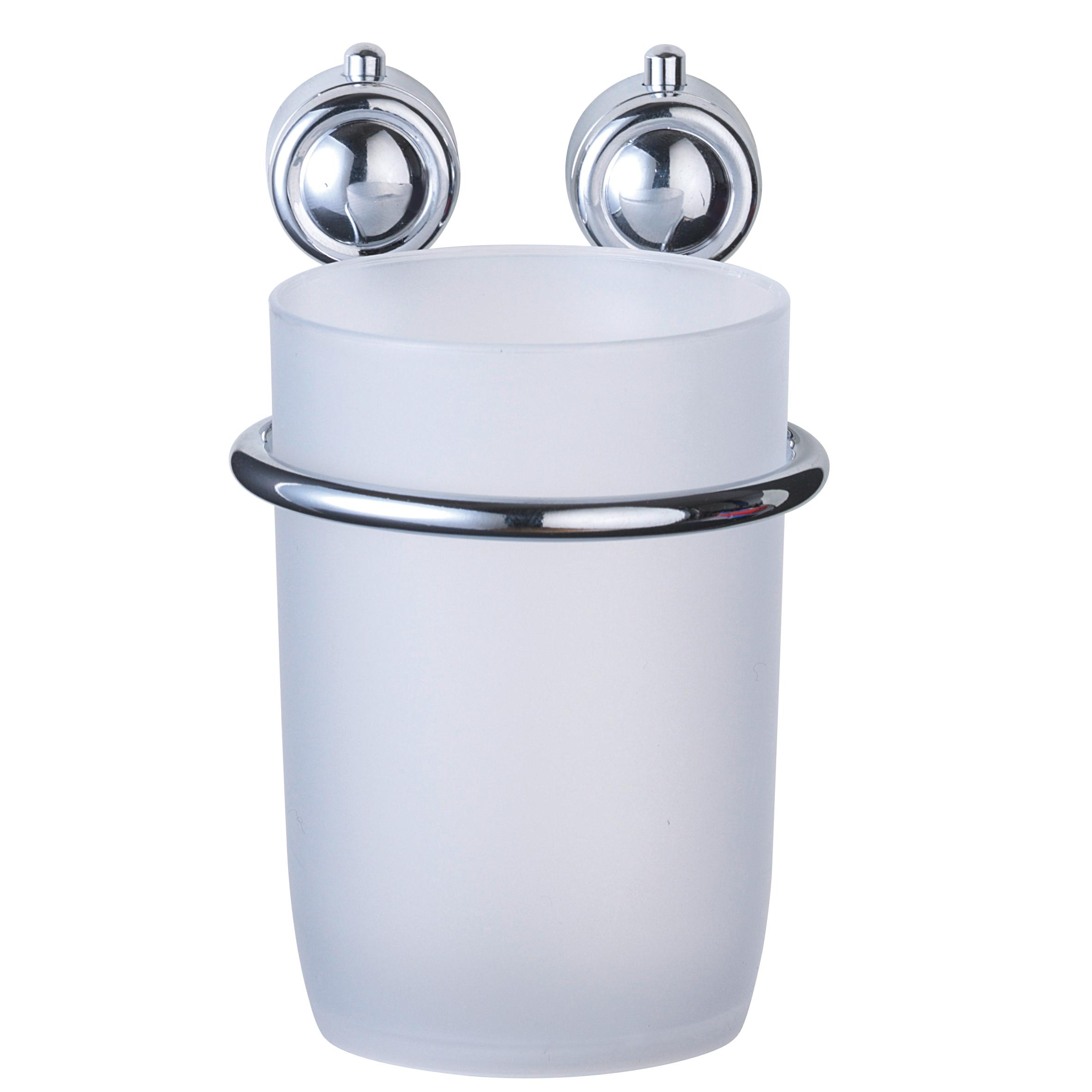 Стакан для ванной комнаты Axentia Atlantik, с держателем280020Стакан для ванной комнаты Axentia Atlantik изготовлен из пластика и высококачественной хромированной стали, устойчивой к высокой влажности. Стакан с настенным держателем отлично подойдет для вашей ванной комнаты. Изделие крепится к стене с помощью шурупов (входят в комплект). Стакан создаст особую атмосферу уюта и максимального комфорта в ванной.