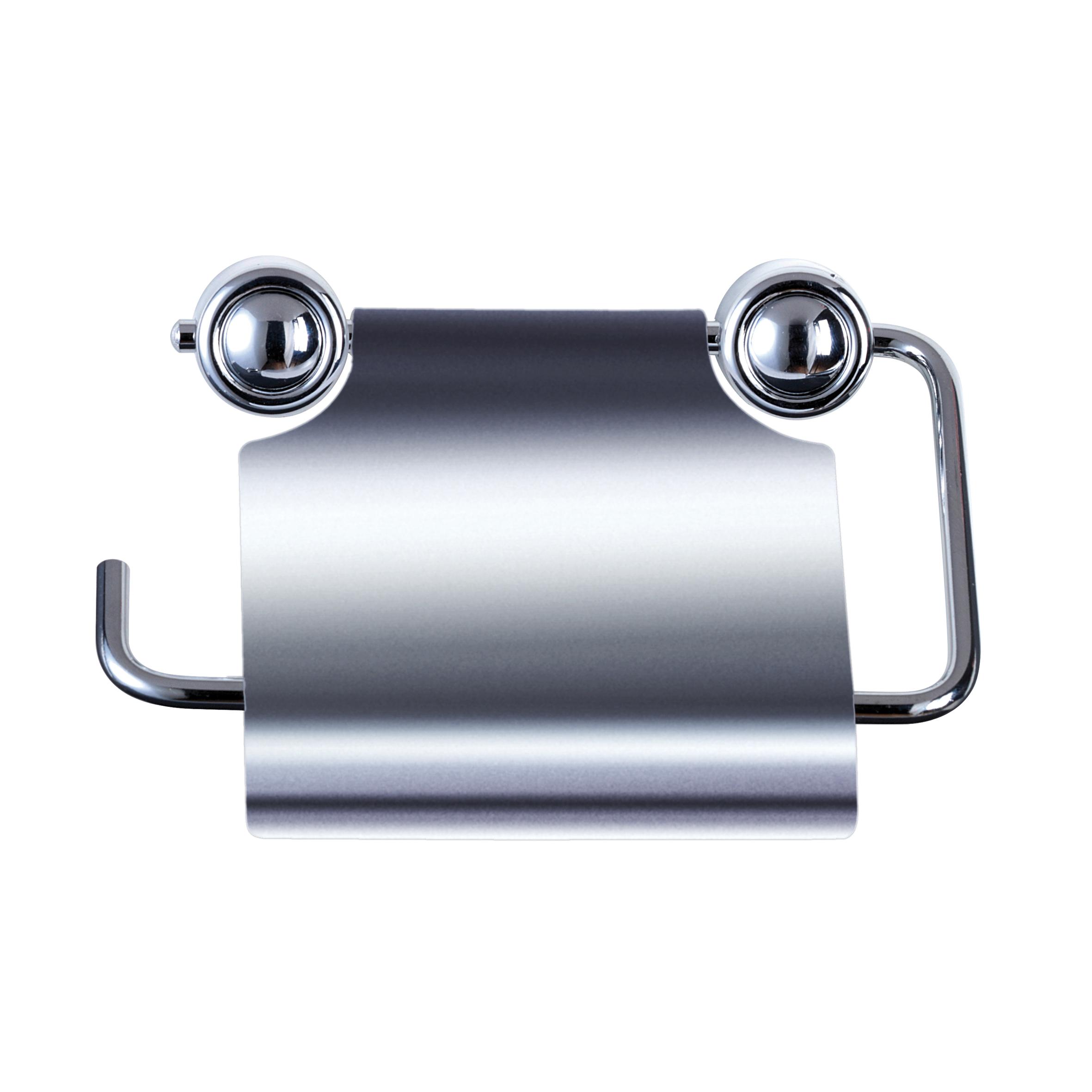 Держатель для туалетной бумаги Axentia Atlantik, цвет: хром280031Держатель для туалетной бумаги настенный с крышкой из нержавеющей стали. Крепится на шурупах, в комплекте. Изготовлен из высококачественной хромированной и нержавеющей стали, устойчивой к высокой влажности. Отлично сочетается с другими аксессуарами из коллекции Atlantik.