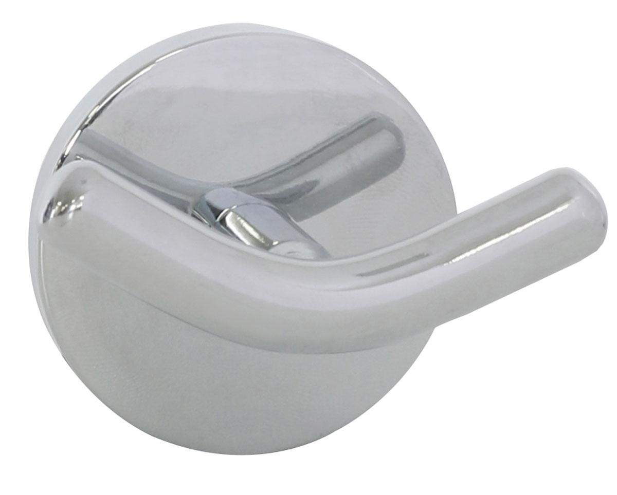 Крючок настенный Axentia Capri, двойной122431Настенный крючок Axentia Capri изготовлен из стали с качественным хромированным покрытием, которое на долго защитит изделие от ржавчины в условиях высокой влажности в ванной комнате. Изделие крепится на стену с помощью шурупов (входят в комплект). Крючок Axentia Capri прекрасно дополнит и подчеркнет ваш интерьер. Отлично сочетается с другими аксессуарами из коллекции Capri. Размер крючка: 7 х 5 х 6 см.