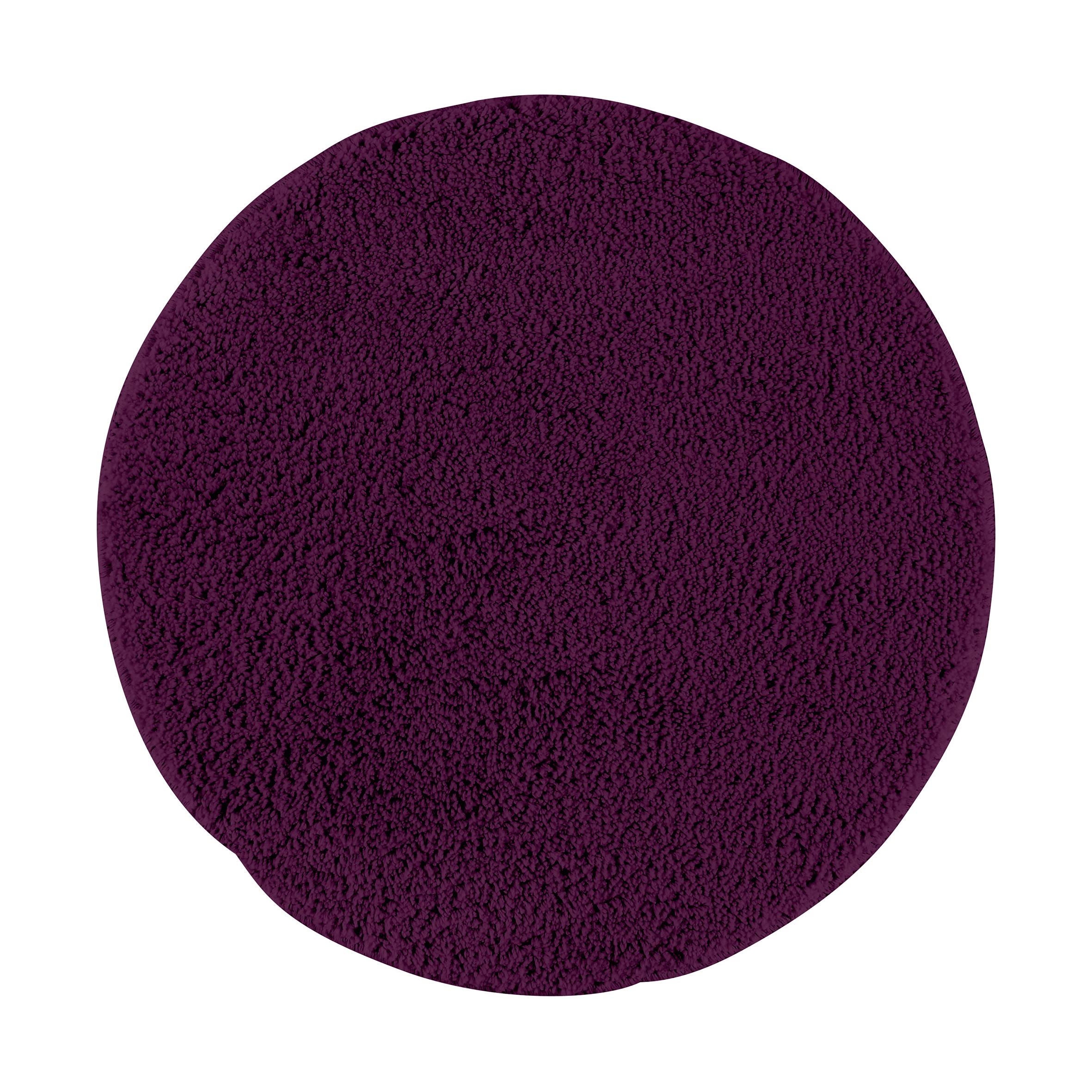 Коврик для ванной Axentia, круглый, цвет: фиолетовый, диаметр 50 см116066Коврик для ванной комнаты из микрофибры, круглый, диаметр 50 см. Высота ворса 1,5 см, стеганный. Противоскользящее основание изготовлено из термопластичной резины и подходит для полов с подогревом. Коврик мягкий и приятный на ощупь, отлично впитывает влагу и быстро сохнет. Можно стирать в стиральной машине. Высокая износостойкость коврика и стойкость цвета позволит вам наслаждаться покупкой долгие годы. Широкая гамма расцветок ковриков Axentia удовлетворит самый притязательный вкус.