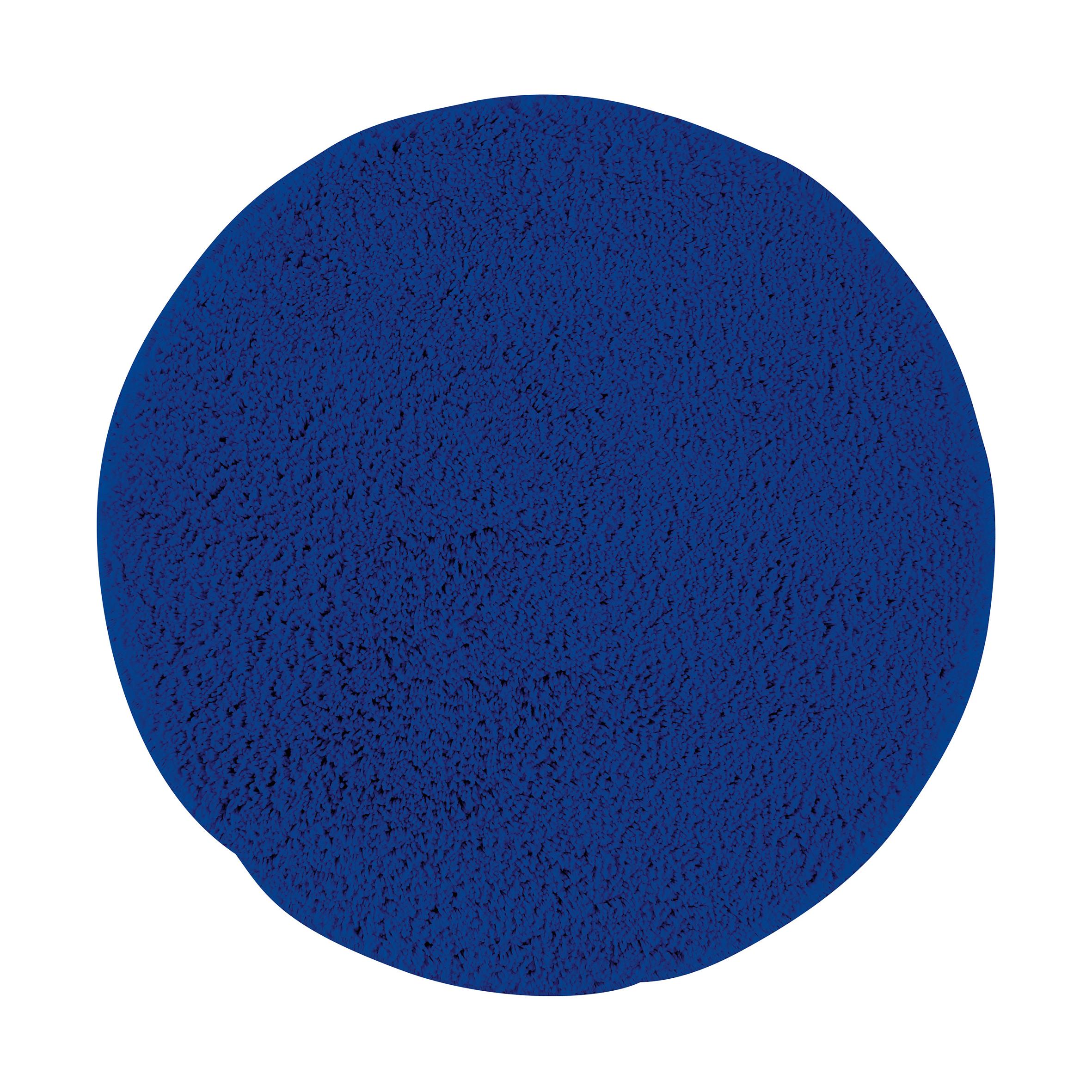 Коврик для ванной Axentia, противоскользящий, цвет: синий, диаметр 50 см116064Круглый коврик для ванной комнаты Axentia выполнен из высококачественной микрофибры. Противоскользящее основание изготовлено из термопластичной резины и подходит для полов с подогревом. Коврик стеганый, мягкий и приятный на ощупь, отлично впитывает влагу и быстро сохнет. Высокая износостойкость коврика и стойкость цвета позволит вам наслаждаться покупкой долгие годы. Можно стирать в стиральной машине. Диаметр коврика: 50 см. Высота ворса: 1,5 см.