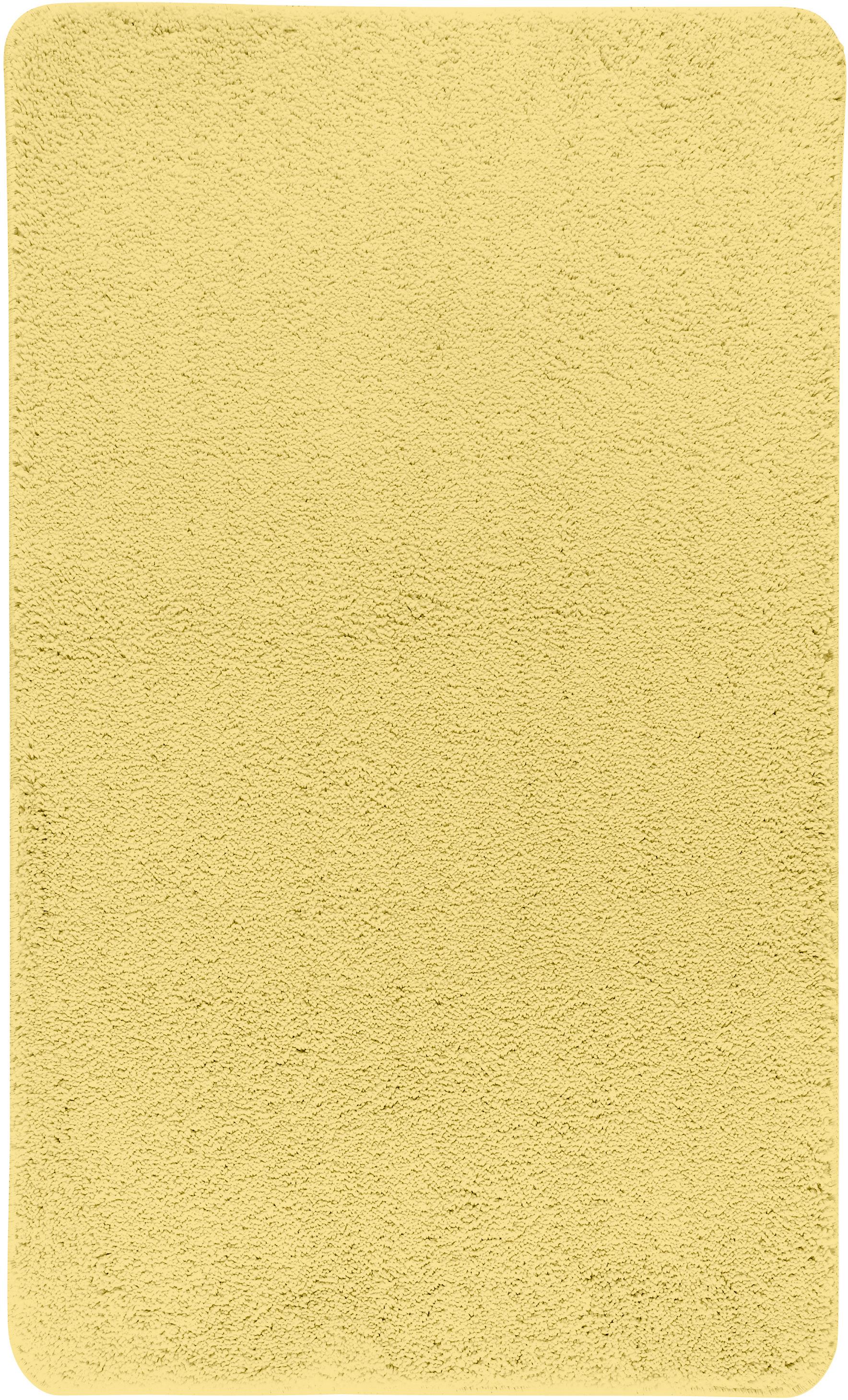 Коврик для ванной Axentia, прямоугольный, цвет: желтый, 60 х 100 см116073Коврик для ванной комнаты из микрофибры, прямоугольный, большой 60х100 см. Высота ворса 1,5 см, стеганный. Противоскользящее основание изготовлено из термопластичной резины и подходит для полов с подогревом. Коврик мягкий и приятный на ощупь, отлично впитывает влагу и быстро сохнет. Можно стирать в стиральной машине. Высокая износостойкость коврика и стойкость цвета позволит вам наслаждаться покупкой долгие годы. Широкая гамма расцветок ковриков Axentia удовлетворит самый притязательный вкус.