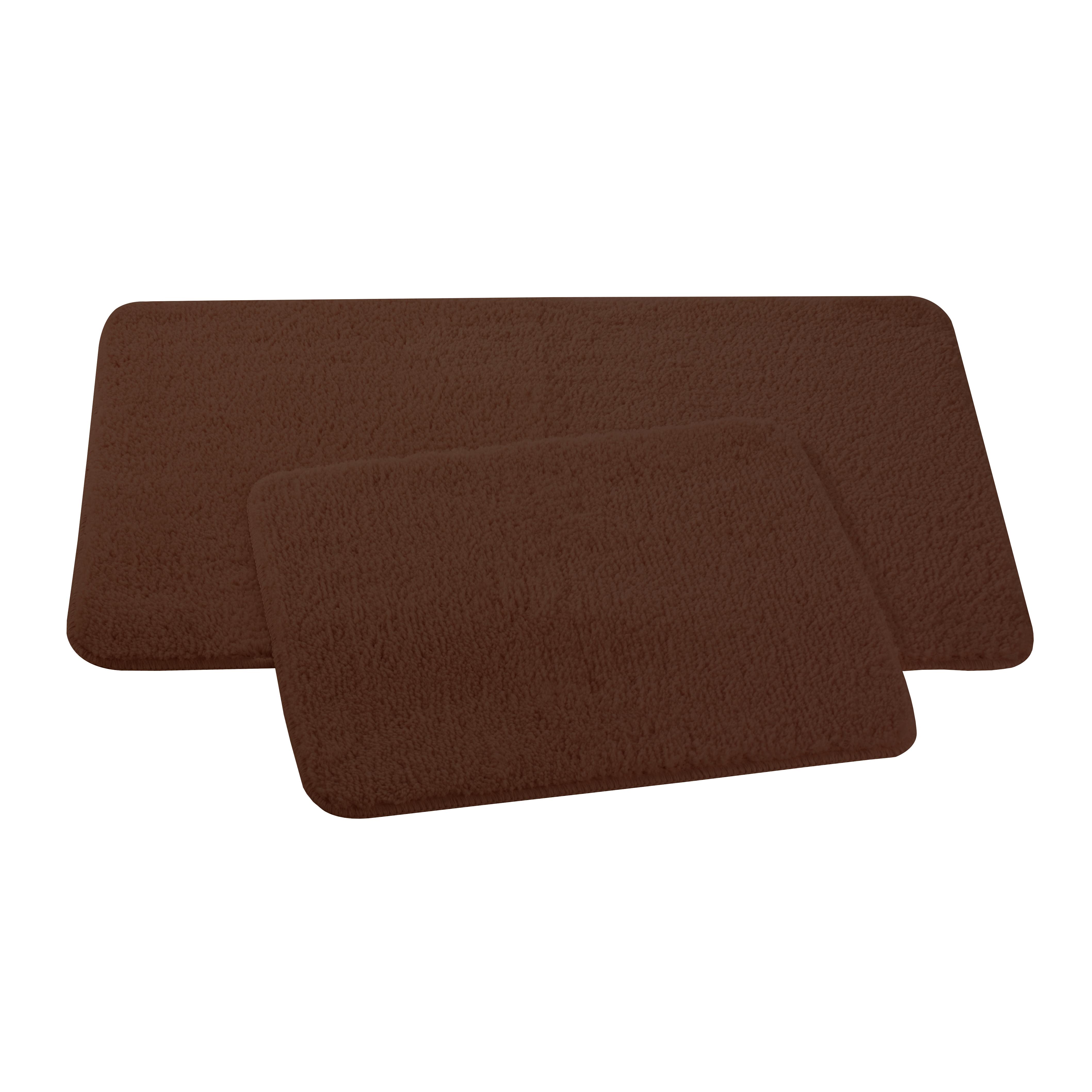 Набор ковриков для ванной и туалета Axentia, цвет: коричневый, 2 шт116135Набор Axentia, выполненный из микрофибры (100% полиэстер), состоит из двух стеганых ковриков для ванной комнаты и туалета. Противоскользящее основание изготовлено из термопластичной резины и подходит для полов с подогревом. Коврики мягкие и приятные на ощупь, отлично впитывают влагу и быстро сохнут. Высокая износостойкость ковриков и стойкость цвета позволит вам наслаждаться покупкой долгие годы. Можно стирать в стиральной машине. Размер ковриков: 50 х 80 см; 50 х 40 см. Высота ворса 1,5 см.