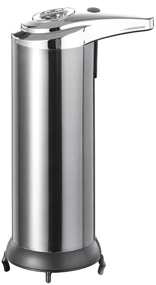 Дозатор для жидкого мыла Axentia, с сенсорным управлением, на подставке, 250 мл282449Настольный дозатор Axentia, изготовлен из нержавеющей стали, бесконтактный, антибактериальный, с сенсорным датчиком подачи мыла при приближении рук. Изделие надежно и удобно в использовании, расположено на устойчивой подставке, Работает на 4-х элементах питания типа ААА (в комплект не входят). Подходит как для домашнего, так и для профессионального использования. Высота дозатора: 18,5 см.