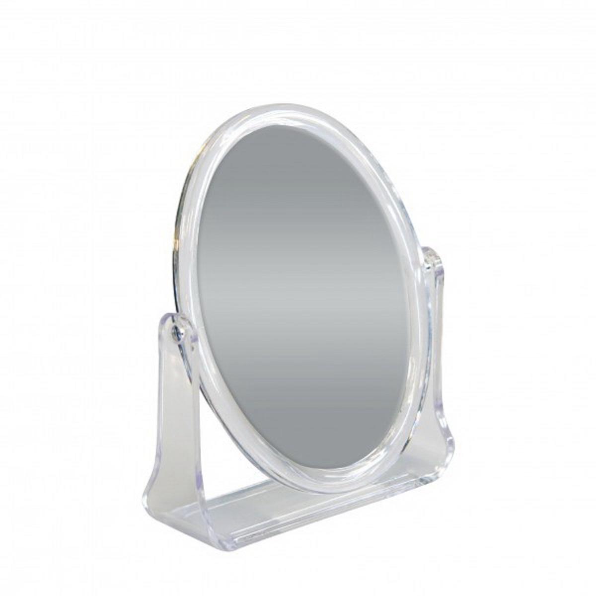 Зеркало косметическое Top Star, настольное, цвет: прозрачный, 15 х 12 см702740Настольное косметическое зеркало Top Star идеально подходит для нанесения макияжа и совершения различных косметических процедур. Двухстороннее зеркало с регулируемым углом наклона позволит вам установить его так, как это удобно вам, а двукратное увеличение одной из зеркальных линз поможет разглядеть даже малейшие нюансы и устранить все недостатки кожи. Яркий и стильный дизайн делает зеркало отличным подарком родным и близким, оно будет прекрасно смотреться в любом интерьере.