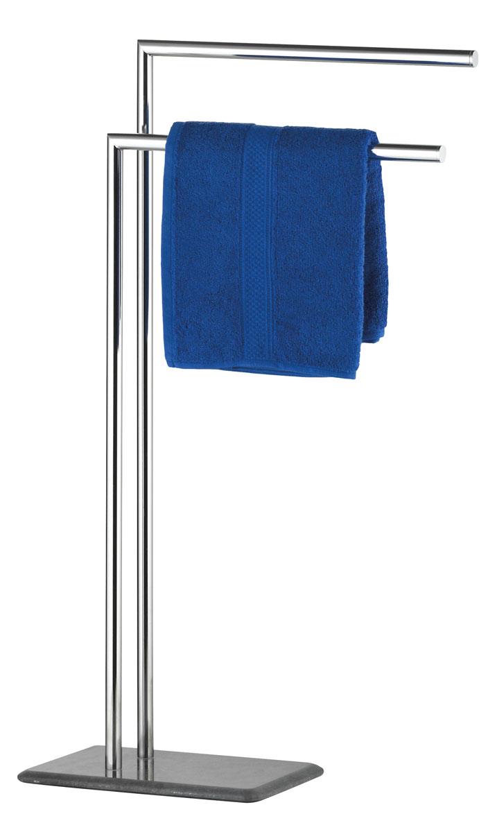 Вешалка для полотенец Axentia Galant, напольная, с 2 планками, 32 х 20 х 82 см282162Напольная вешалка для полотенец Axentia Galant изготовлена из высококачественной хромированной стали, устойчивой к коррозии в условиях высокой влажности в ванной комнате и мрамора. Изделие имеет две планки, а также утяжеленное основание из мрамора для лучшей устойчивости. Стильный современный дизайн, сочетающий в себе мрамор и хромированную сталь, украсит любую ванную комнату. Размер вешалки: 32 х 20 х 82 см.