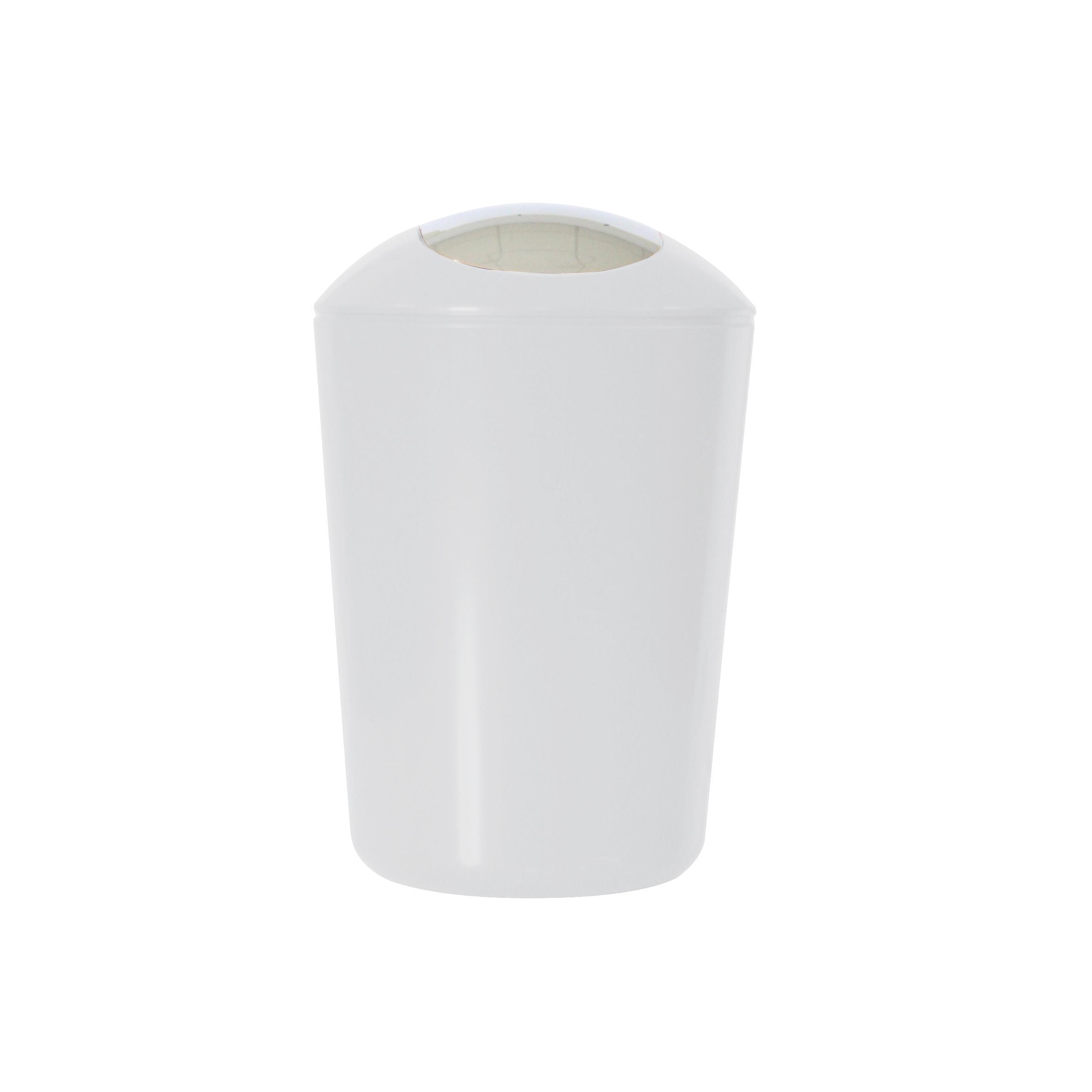 Ведро для мусора Axentia, с крышкой, цвет: белый, хром, 5 л251078Глянцевое ведро для мусора Axentia, выполненное из высококачественного износостойкого пластика, оснащено хромированную крышку типа качели. Подходит для использования в ванной комнате или на кухне. Стильный дизайн и яркая расцветка прекрасно подойдет для любого интерьера ванной комнаты или кухни. Размер ведра: 20 х 20 х 30 см. Объем ведра: 5 л.