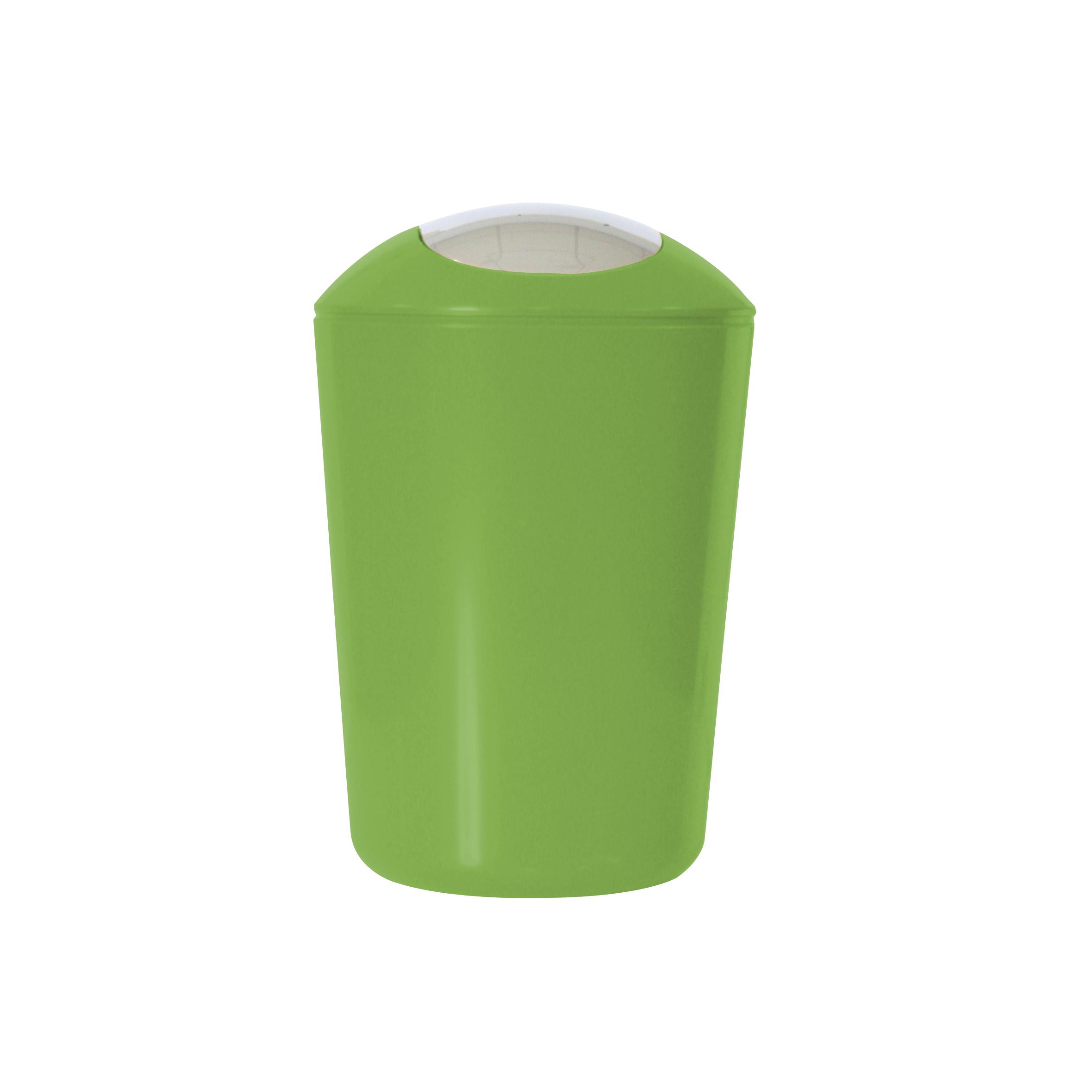 Ведро для мусора Axentia, с крышкой, цвет: зеленый, хром, 5 л251079Глянцевое ведро для мусора Axentia, выполненное из высококачественного износостойкого пластика, оснащено хромированную крышку типа качели. Подходит для использования в ванной комнате или на кухне. Стильный дизайн и яркая расцветка прекрасно подойдет для любого интерьера ванной комнаты или кухни. Размер ведра: 20 х 20 х 30 см. Объем ведра: 5 л.