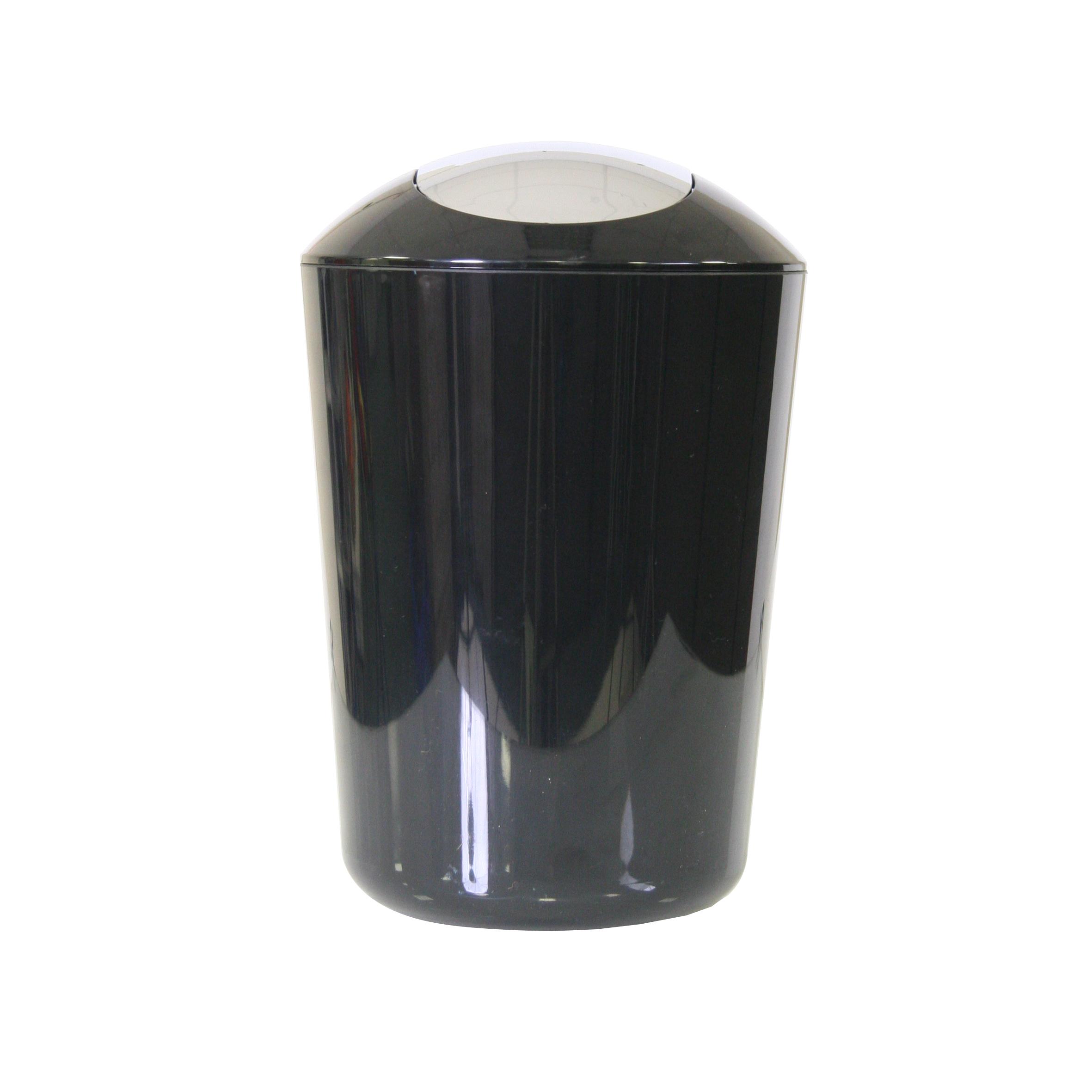Ведро для мусора Axentia, с крышкой, цвет: черный, хром, 5 л251081Глянцевое ведро для мусора Axentia, выполненное из высококачественного износостойкого пластика, оснащено хромированную крышку типа качели. Подходит для использования в ванной комнате или на кухне. Стильный дизайн и яркая расцветка прекрасно подойдет для любого интерьера ванной комнаты или кухни. Размер ведра: 20 х 20 х 30 см. Объем ведра: 5 л.