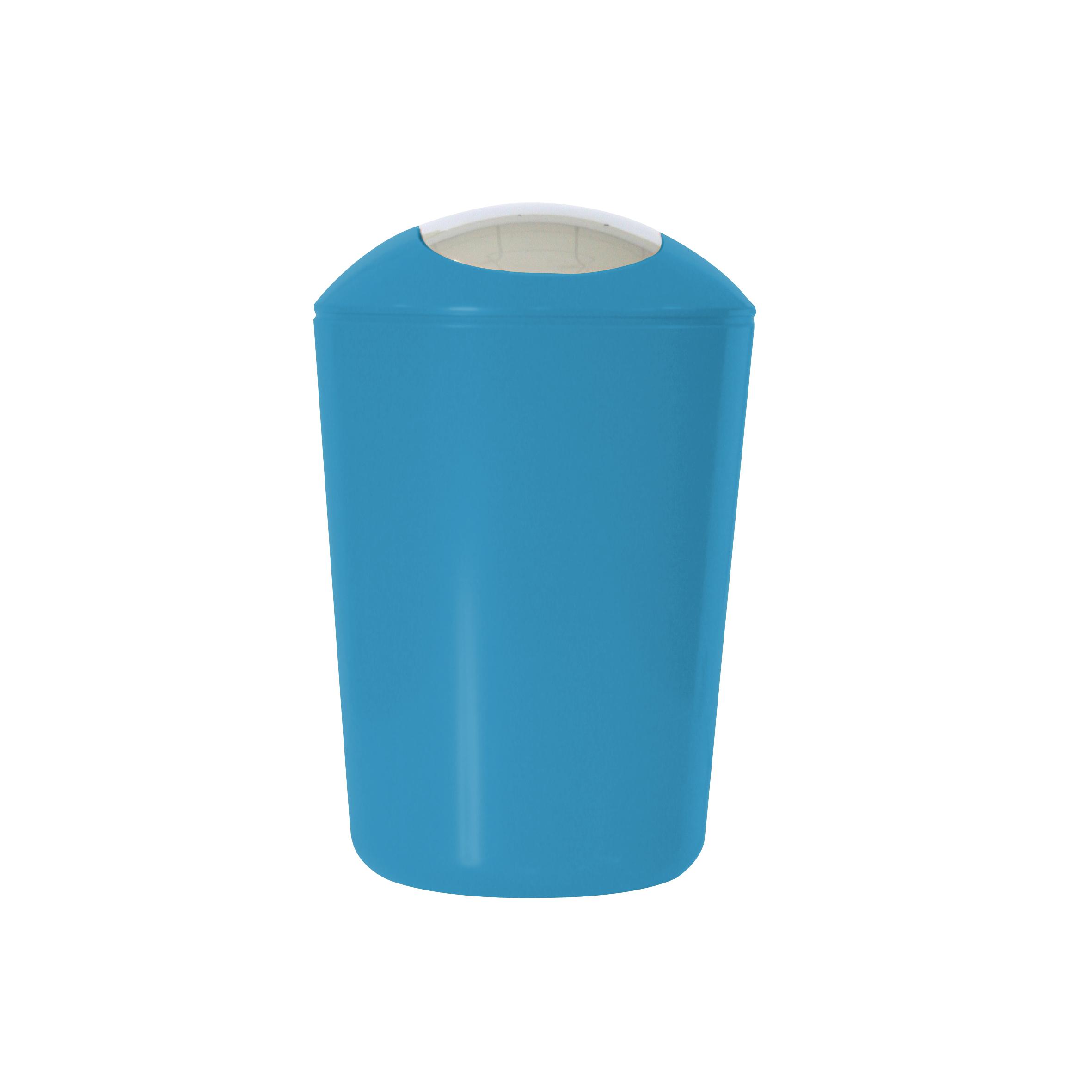 Ведро для мусора Axentia, с крышкой, цвет: синий, хром, 5 л251082Глянцевое ведро для мусора Axentia, выполненное из высококачественного износостойкого пластика, оснащено хромированную крышку типа «качели». Подходит для использования в ванной комнате или на кухне. Стильный дизайн и яркая расцветка прекрасно подойдет для любого интерьера ванной комнаты или кухни. Размер ведра: 20 х 20 х 30 см. Объем ведра: 5 л.
