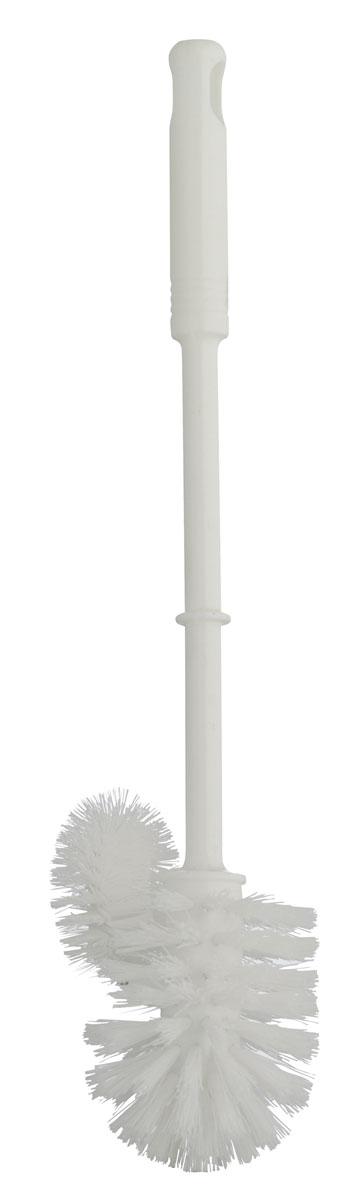 Ершик для унитаза Axentia, с дополнительной щеточкой, высота 37,5 см271571Ершик для унитаза Axentia, изготовленный из пластика, оснащен удобной ручкой. Щетка с жестким густым ворсом прослужит долгое время без необходимости замены. Изделие оснащено дополнительной щеточкой для чистки под ободком унитаза, где, как известно, скапливаются загрязнения, микробы и неприятный запах. Подходит к большинству держателей под ершики.
