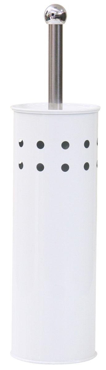 Гарнитур для туалета Axentia, 2 предмета. 282230282230Гарнитур для туалета Axentia включает ершик и металлическую подставку. Ершик для унитаза имеет ручку и крышку из нержавеющей стали и щетку с жестким густым ворсом. Подставка выполнена в виде цилиндра из нержавеющей стали с декоративными отверстиями по верхней части окружности, со стойким порошковым напылением. Высококачественные материалы позволят наслаждаться покупкой долгие годы. Изделие приятно дополнит интерьер вашей туалетной комнаты.