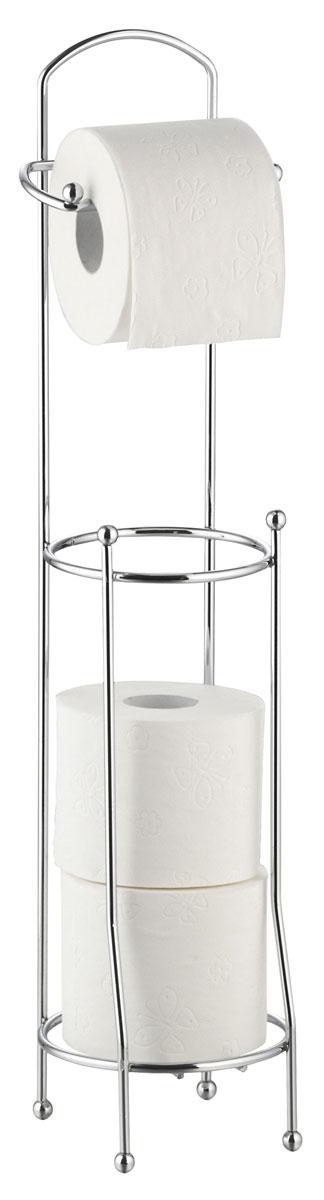 Держатель для туалетной бумаги Axentia, с накопителем для 3 рулонов, высота 66 см282245Держатель для туалетной бумаги Axentia оснащен накопителем для 3 стандартных рулонов. Изготовлен из высококачественной хромированной стали, устойчивой к проявлению коррозии. Стильный дизайн украсит интерьер вашей туалетной комнаты. Размер держателя: 16 х 16 х 66 см.