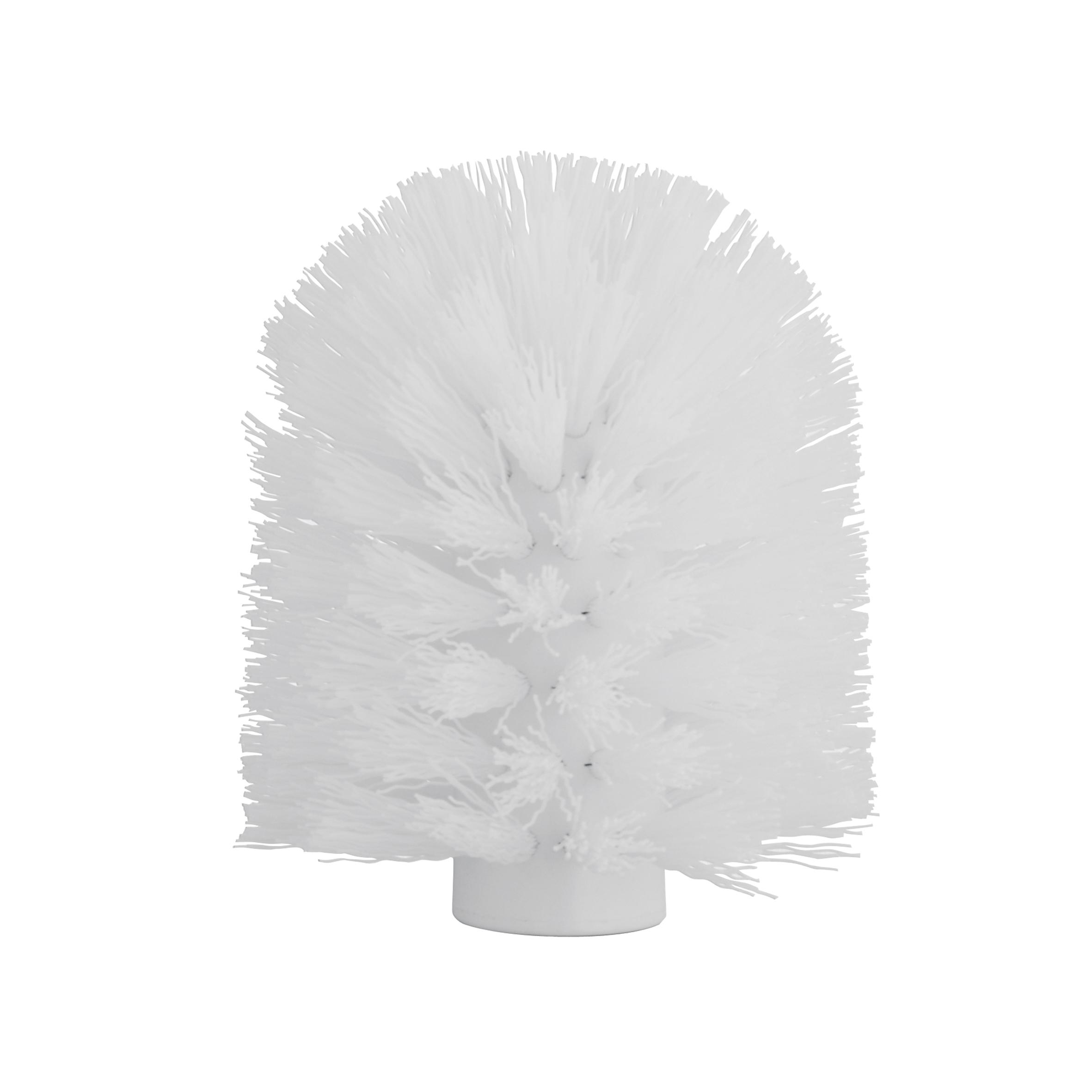 Щетка для ершика Axentia, сменная, цвет: белый, диаметр 8 см282292Щетка для ершика Axentia изготовлена из высококачественного пластика. Изделие является необходимой вещью, поскольку со временем ершик для унитаза теряет свои свойства, загрязняется и приходит в негодность. Резьба щетки подходит ко всем туалетным гарнитурам tm Axentia и tm TOP STAR, а так же к большинству других ершей, а классический диаметр 8 см является самым распространенным среди гарнитур. Внутренний диаметр резьбы: 1,2 см.