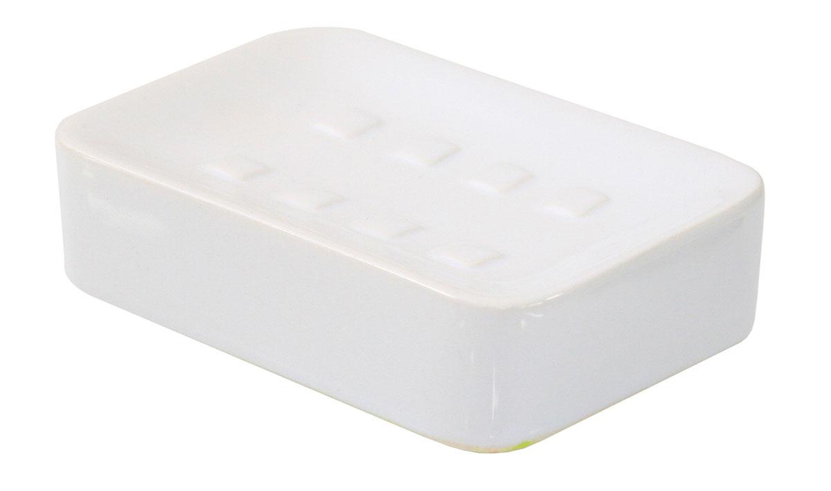 Мыльница Axentia Bianco, прямоугольная, цвет: белый282456Изготовлена из натуральной и элегантной керамики белого цвета, удобной прямоугольной формы. Отлично сочетается с другими аксессуарами из коллекции Bianco.