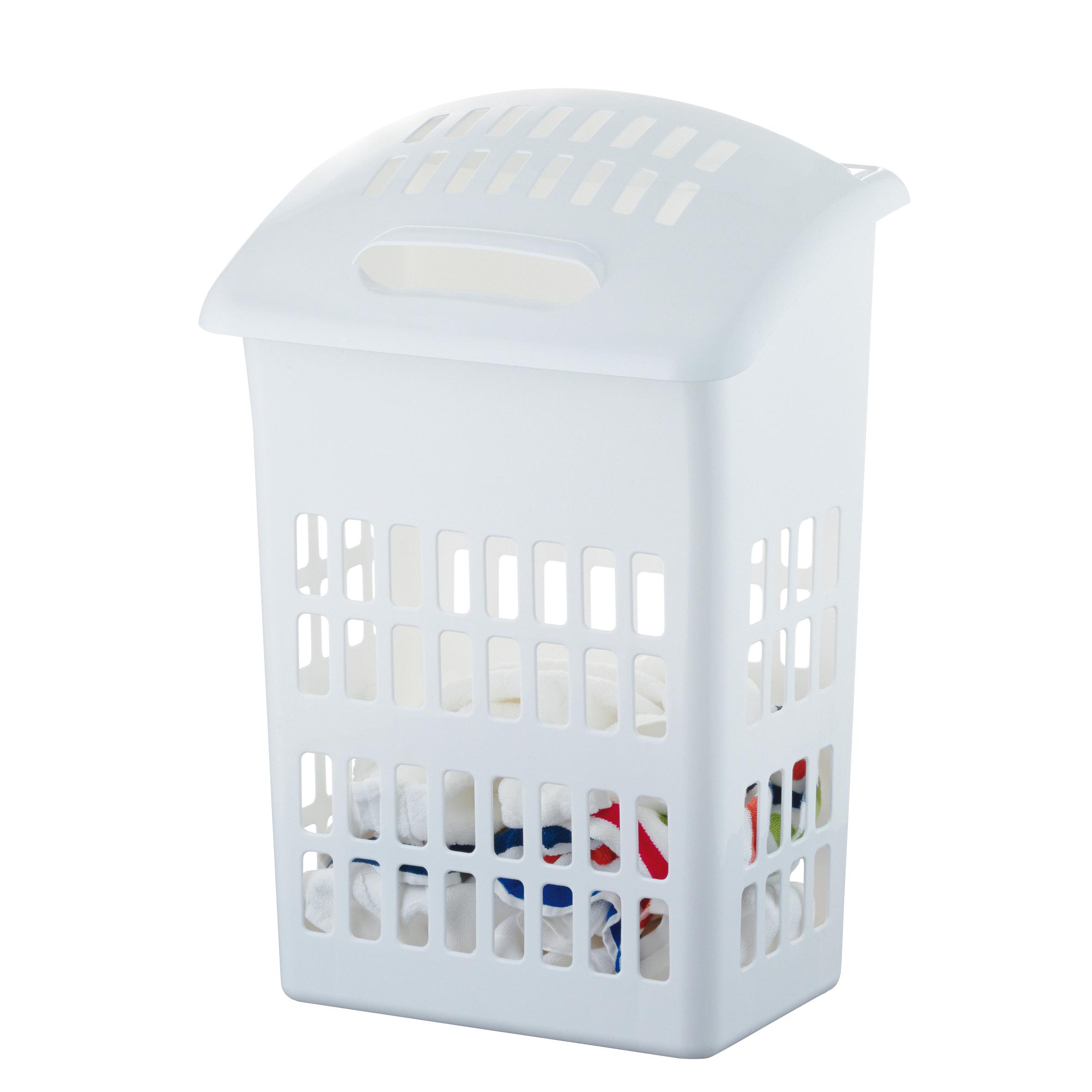 Корзина для белья Axentia, с крышкой, 44 х 31 х 67 см282771Корзина для белья Axentia изготовлена из высококачественного пластика. Имеет специальные отверстия, для того, чтобы ваше белье не сопрело. Подходит для хранения обуви или игрушек. Современный дизайн корзины украсит любой интерьер ванной комнаты. Размер корзины: 44 х 31 х 67 см.