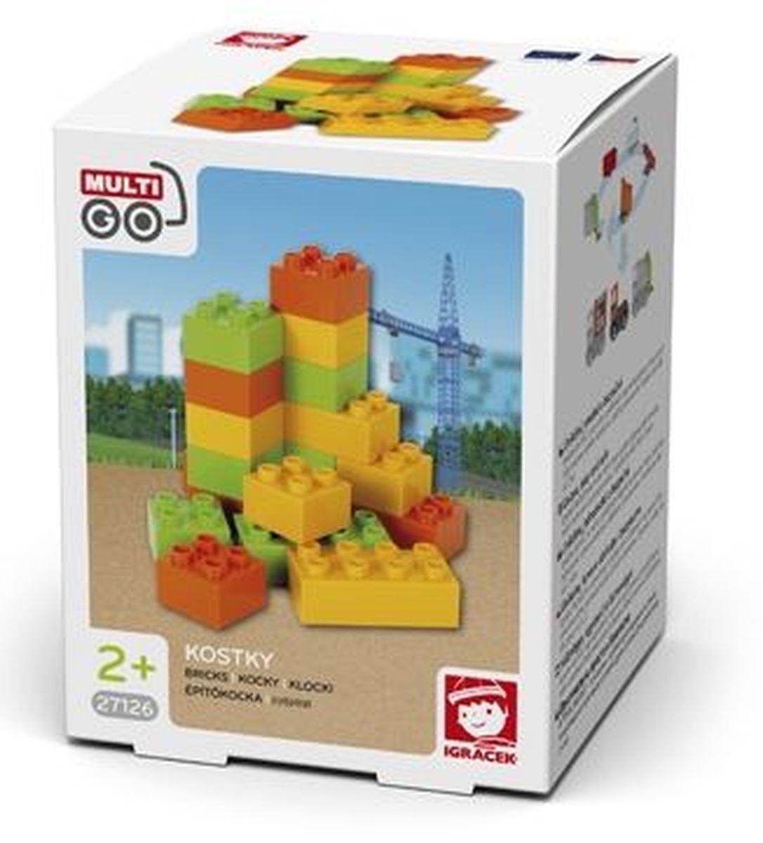 Igracek/Multigo Кубики строительные27126Набор из 18 разноцветных кубиков, сделанных из высококачественного пластика. Используй их для создания различных фигур и сооружений.