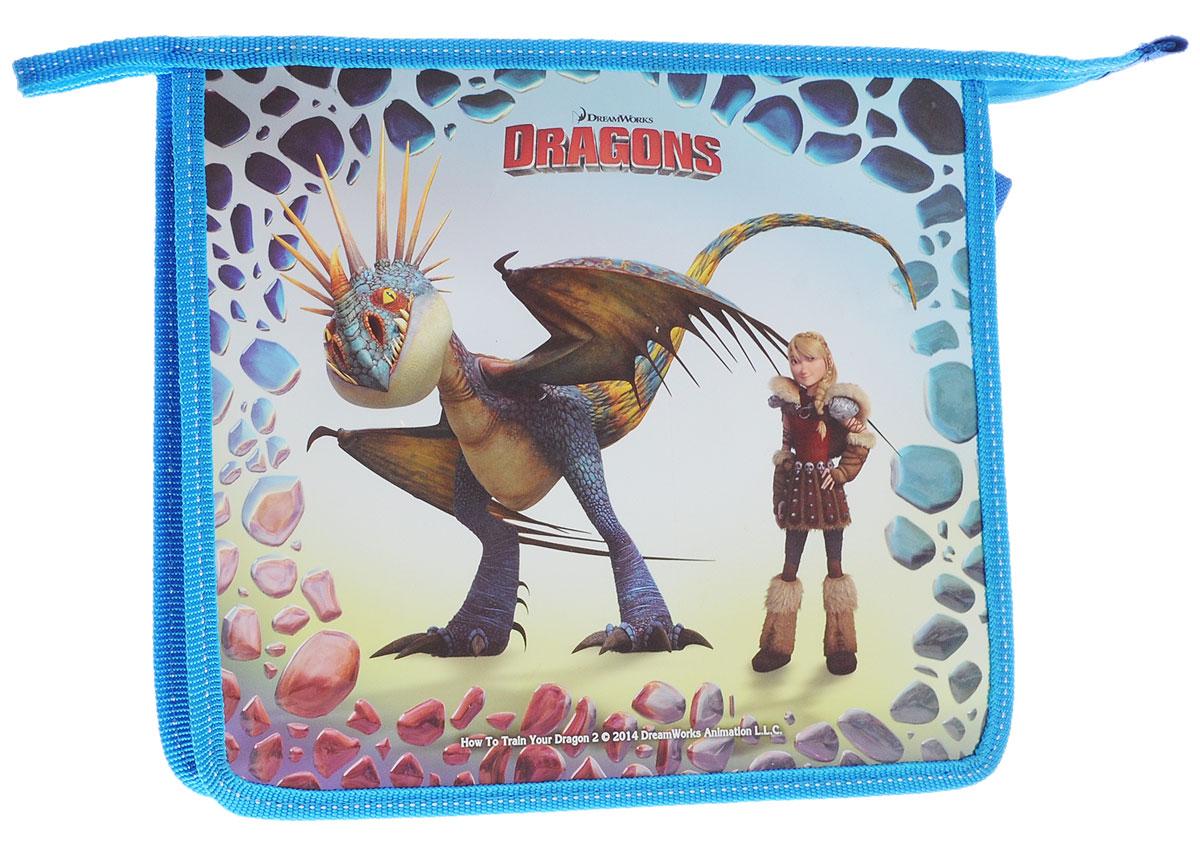 Action! Папка для тетрадей Dragons цвет голубой