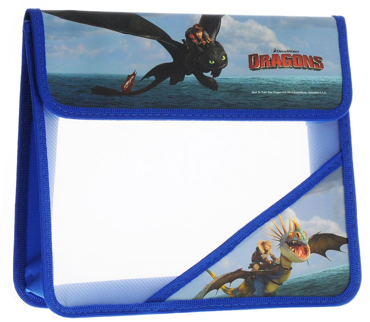 Action! Папка для тетрадей Dragons цвет синий голубой зеленый