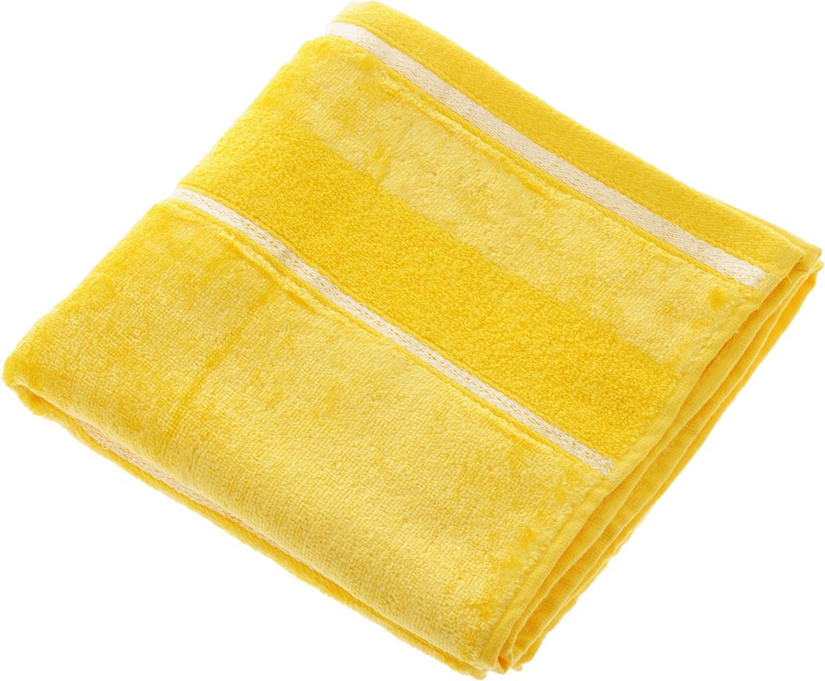 Полотенце Soavita Louise, цвет: желтый, 50 х 90 см64031Полотенце Soavita Louise выполнено из 100% хлопка. Все детали качественно прошиты, ткань очень плотная и не линяет. Изделие отлично впитывает влагу, быстро сохнет, сохраняет яркость цвета и не теряет форму даже после многократных стирок. Полотенце очень практично и неприхотливо в уходе. Оно подарит прекрасное настроение и украсит интерьер в ванной комнате. Рекомендуется стирка при температуре 40°C.