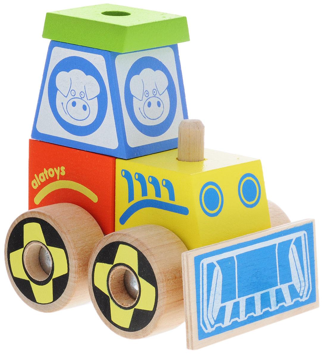Alatoys Конструктор-каталка Трактор малыйКТР02Конструктор-каталка Alatoys Трактор приятно порадует юных исследователей мира! Уникальный дизайн и яркие цвета не оставят равнодушными как мальчиков, так и девочек. Игрушка развивает мелкую моторику рук, навыки конструирования, пространственное мышление, аналитические и творческие способности, сенсорное и визуальное восприятие. При изготовлении были использованы экологически чистые краски и безопасная древесина. Деревянная игрушка долговечна и безопасна, она не может поранить или испортиться. Конструктор-каталка Alatoys Трактор - это та игрушка, которая никогда не устареет!