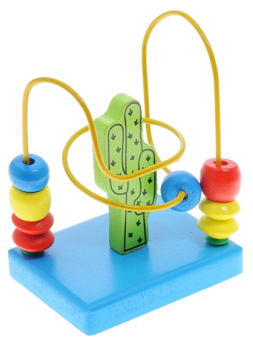Alatoys Лабиринт КактусЛБ1016Яркий забавный лабиринт Alatoys Кактус привлечет внимание вашего малыша и не позволит ему скучать. Игрушка изготовлена из высококачественных пород древесины и металла и представляет собой проволоку с нанизанными на неё деревянными колечками, закрепленную на деревянном основании. Малыш должен провести все колечки от одного конца проволоки к другому. Экологически чистая и безопасная, при этом прочная и легкая на вес игрушка поможет развить логическое мышление, пространственное воображение и мелкую моторику, отлично развивает физические и интеллектуальные способности, способствует гармоничному развитию ребенка.