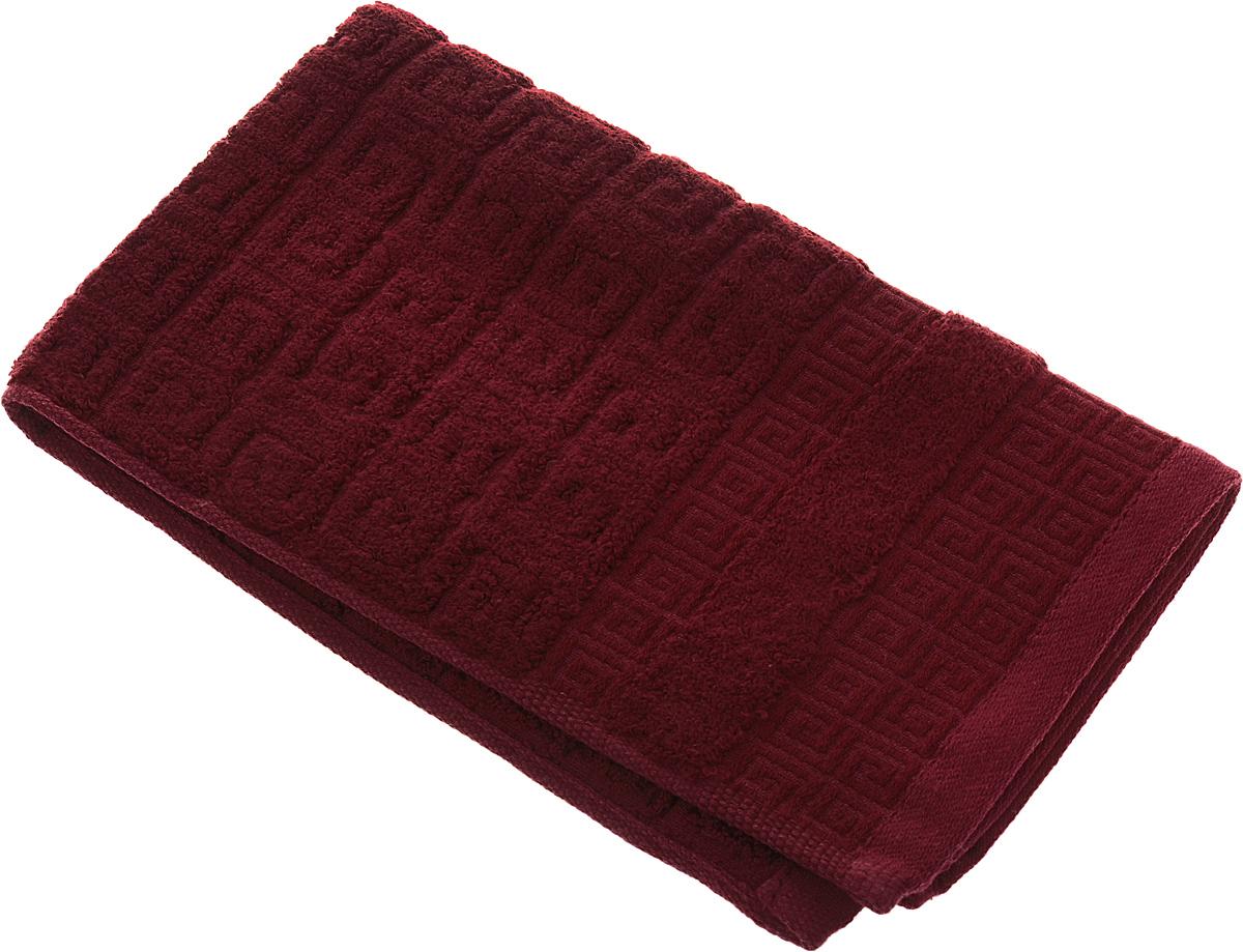 Полотенце Soavita Alber, цвет: бордовый, 30 х 50 см64144Полотенце Soavita Alber выполнено из 100% бамбукового волокна. Изделие отлично впитывает влагу, быстро сохнет, сохраняет яркость цвета и не теряет форму даже после многократных стирок. Полотенце очень практично и неприхотливо в уходе. Оно создаст прекрасное настроение и украсит интерьер в ванной комнате.