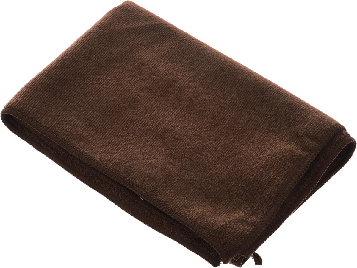 Полотенце кухонное Soavita, цвет: коричневый, 50 х 70 см63867Кухонное полотенце Soavita, выполненное из 80% полиэстера и 20% полиамида, имеет лаконичный и дизайн. Изделие предназначено для использования на кухне и в столовой. Имеется петелька для подвешивания. Такое полотенце станет отличным вариантом для практичной и современной хозяйки.