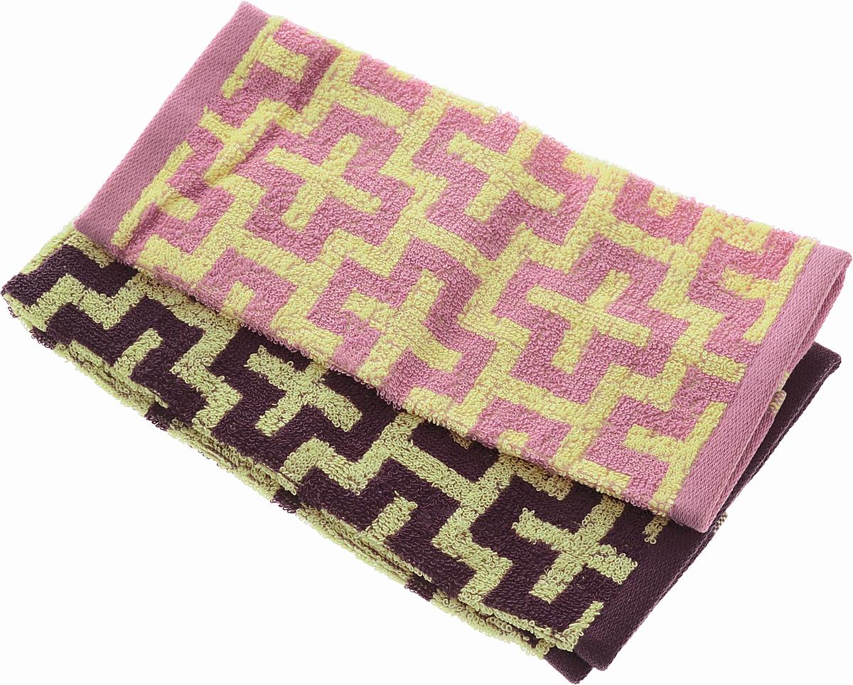 Набор кухонных полотенец Soavita Марокко, цвет: сливовый, желтый, розовый, 2 шт49224Набор Soavita Марокко состоит из двух полотенец, выполненных из 100% хлопка. Изделия предназначены для использования на кухне и в столовой. Набор полотенец Soavita Марокко - отличное приобретение для каждой хозяйки. Комплектация: 2 шт.