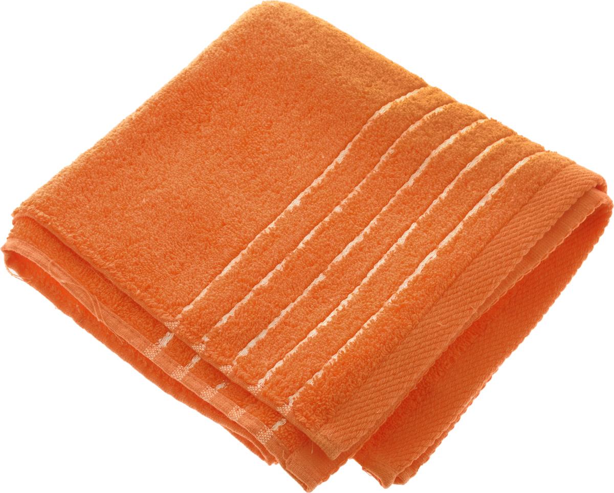 Полотенце Soavita Olivia, цвет: оранжевый, 50 х 90 см64009Полотенце Soavita Olivia выполнено из 100% хлопка. Изделие отлично впитывает влагу, быстро сохнет, сохраняет яркость цвета и не теряет форму даже после многократных стирок. Полотенце очень практично и неприхотливо в уходе. Оно создаст прекрасное настроение и украсит интерьер в ванной комнате. Рекомендуется стирка при температуре 40°C.