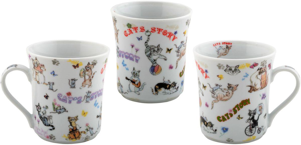 Набор кружек GiftLand, 300 млMUG Cats 6Коллекционные подарочные кружки,с модными авторскими принтами