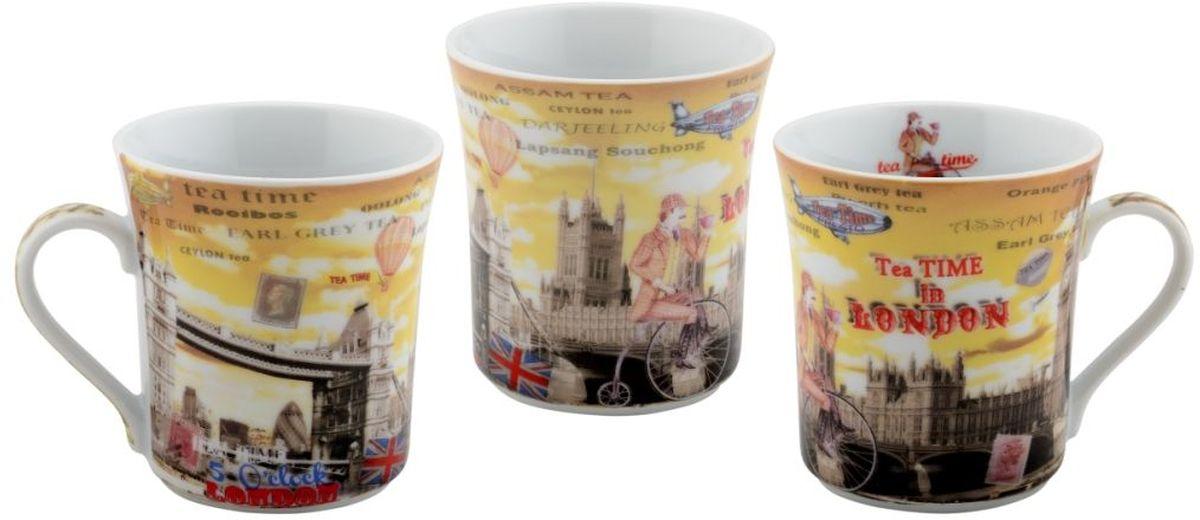 Набор кружек GiftnHome, 300 млMUG Teatime 6Коллекционные подарочные кружки,с модными авторскими принтами