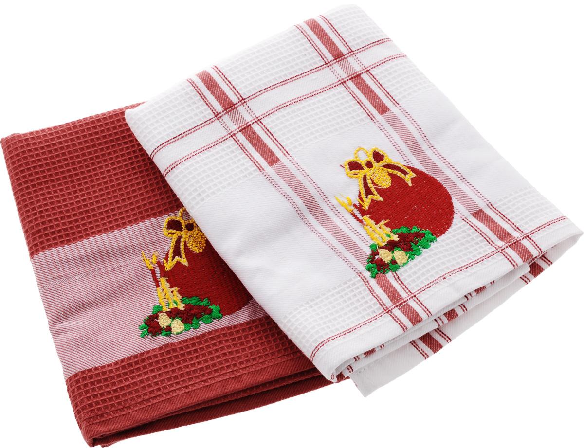 Набор кухонных полотенец Soavita Подарочное, цвет: белый, красный, 45 х 70 см, 2 шт44094Набор Soavita Подарочное состоит из двух полотенец, выполненных из 100% хлопка. Изделия предназначены для использования на кухне и в столовой. Набор полотенец Soavita Подарочное - отличное приобретение для каждой хозяйки. Комплектация: 2 шт.