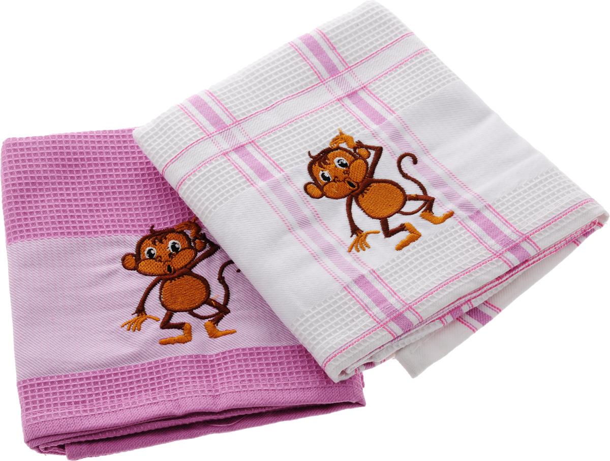 Набор кухонных полотенец Soavita Символ года, цвет: белый, розовый, 43 х 68 см, 2 шт. 7470474704Набор Soavita Символ года состоит из двух полотенец, выполненных из 100% хлопка. Изделия предназначены для использования на кухне и в столовой. Набор полотенец Soavita Символ года - отличное приобретение для каждой хозяйки. Комплектация: 2 шт.
