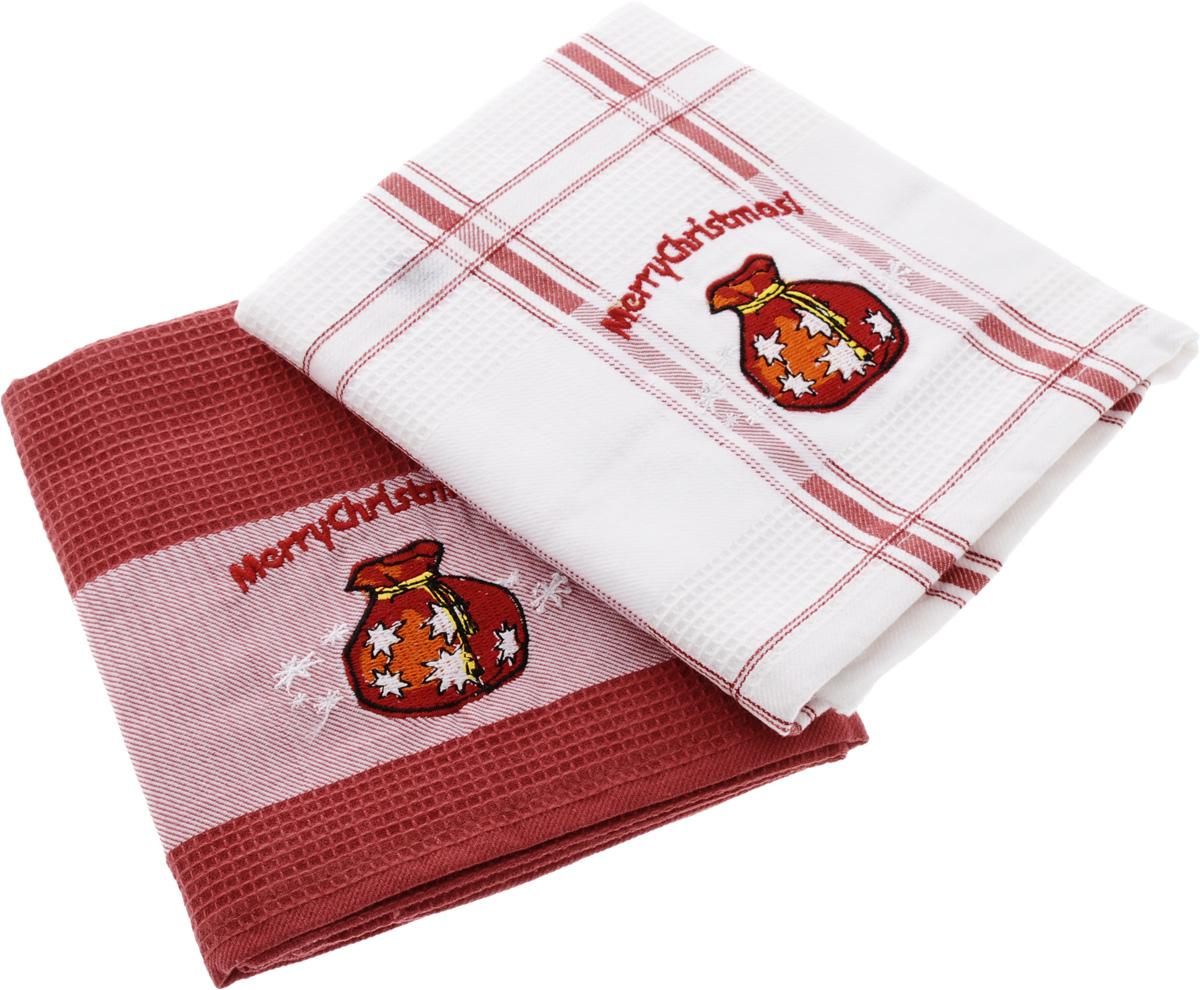 Набор кухонных полотенец Soavita Подарочное, цвет: белый, красный, 45 х 70 см, 2 шт. 4409844098Набор Soavita Подарочное состоит из двух полотенец, выполненных из 100% хлопка. Изделия предназначены для использования на кухне и в столовой. Набор полотенец Soavita Подарочное - отличное приобретение для каждой хозяйки. Комплектация: 2 шт.