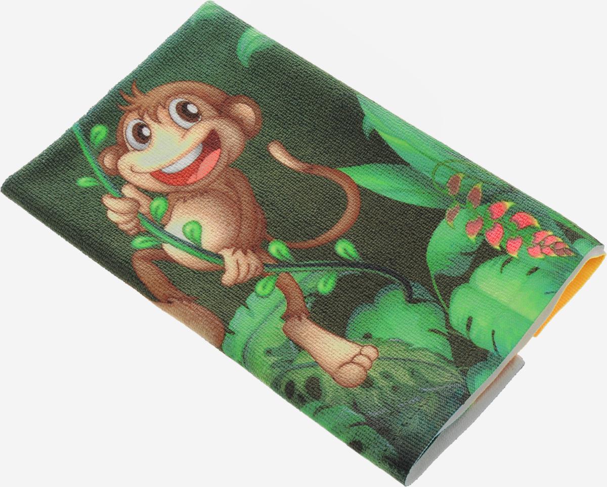 Полотенце кухонное Soavita Monkey, 38 х 64 см. 8058880588Кухонное полотенце Soavita Monkey, выполненное из высококачественной микрофибры (80% полиэстер, 20% полиамид), оформлено изображением забавной обезьянки. Имеется петелька для подвешивания. Изделие предназначено для использования на кухне и в столовой. Такое полотенце станет отличным вариантом для практичной и современной хозяйки.