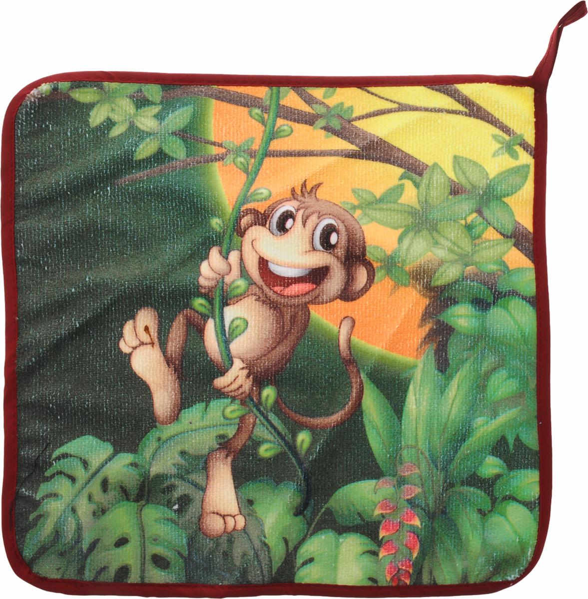 Салфетка кухонная Soavita Monkey, 30 х 30 см. 8059280592Кухонная салфетка Soavita Monkey выполнена из высококачественной микрофибры (80% полиэстер, 20% полиамид) и оснащена петелькой для подвешивания. Изделие отлично впитывает влагу, быстро сохнет, сохраняет яркость цвета и не теряет форму даже после многократных стирок. Салфетка очень практична и неприхотлива в уходе. Она создаст прекрасное настроение и украсит интерьер вашей кухни.