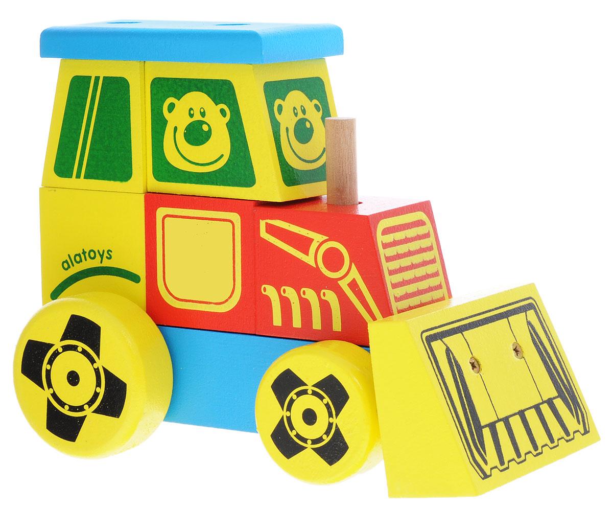 Alatoys Конструктор-каталка Трактор большойКТР01Конструктор-каталка Alatoys Трактор приятно порадует юных исследователей мира! Уникальный дизайн и яркие цвета не оставят равнодушными как мальчиков, так и девочек. Игрушка развивает мелкую моторику рук, навыки конструирования, пространственное мышление, аналитические и творческие способности, сенсорное и визуальное восприятие. При изготовлении были использованы экологически чистые краски и безопасная древесина. Деревянная игрушка долговечна и безопасна, она не может поранить или испортиться. Конструктор-каталка Alatoys Трактор - это та игрушка, которая никогда не устареет!